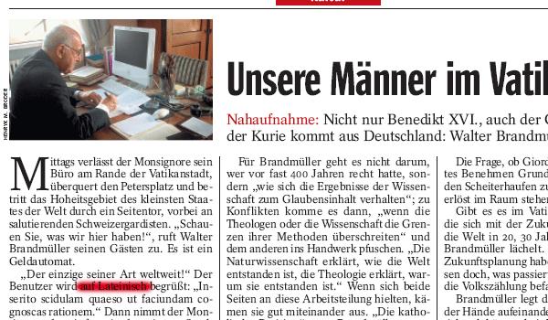 Der Spiegel 48/2006 (Ausschnitt)