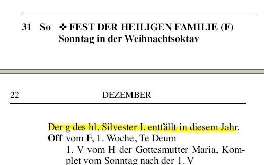 31. Dezember 2006 (Ausriss aus dem Direktorium)