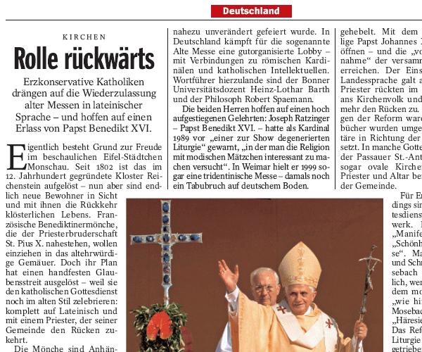 Der Spiegel 14/2007 (Ausriss)