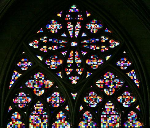Von Gerhard Richter gestaltetes Fenster im Kölner Dom (Ausschnitt)