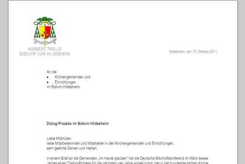 Briefe Datum Und Ort : Dialog im bistum hildesheim commentarium catholicum